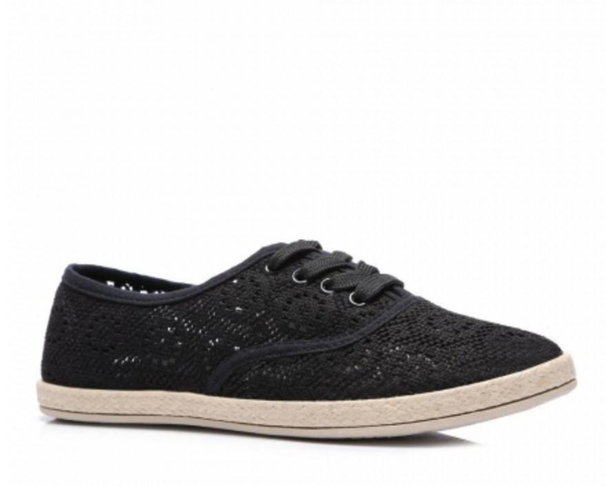Elegantní krajkové tenisky černé - B750-1B