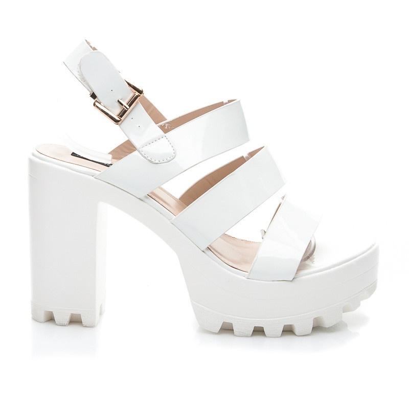 Parádní otevřené sandálky bílé RMD1272WH