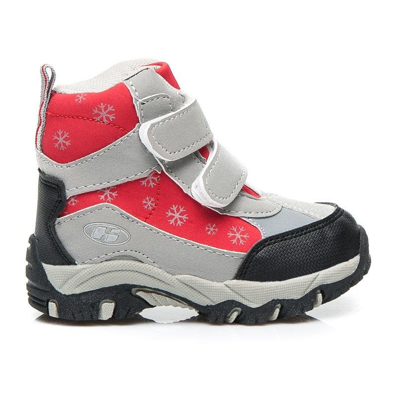 Dětské pohodlné boty na zimu stříbrné- 1820G.R