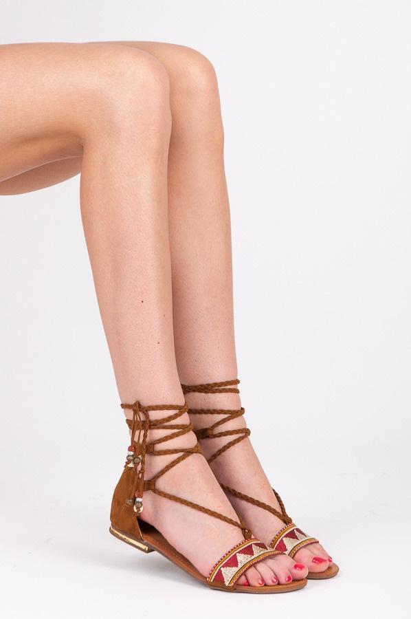 Ploché sandálky hnědé - 8130-17C