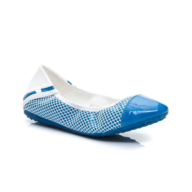 Kouzelné dámské balerínky modré A897BL