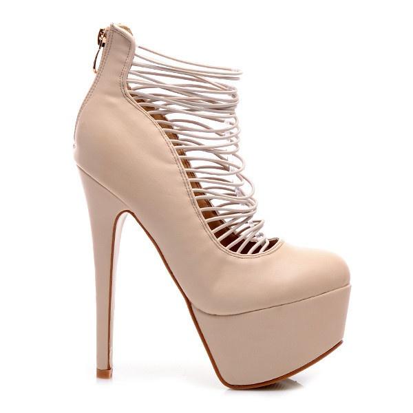 Extravagantní sexy kotníkové boty K038BE