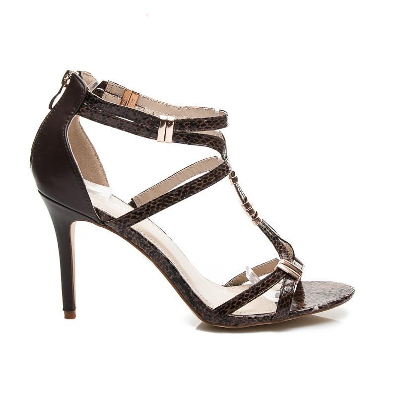 Luxusní dámské sandálky černé ME008BR