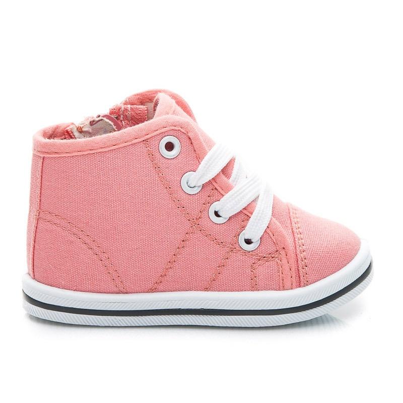 Dětské botičky růžové DD292PI