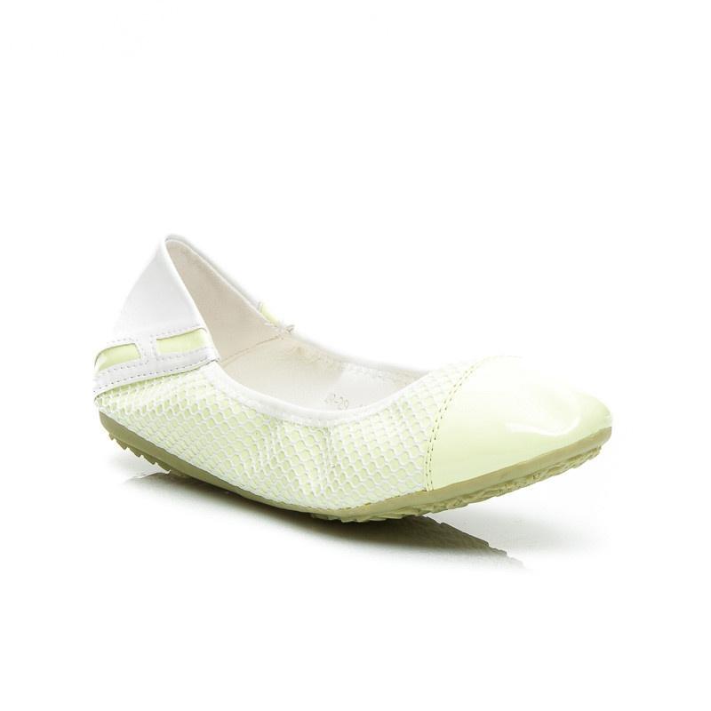 Kouzelné dámské balerínky zelené A897GR