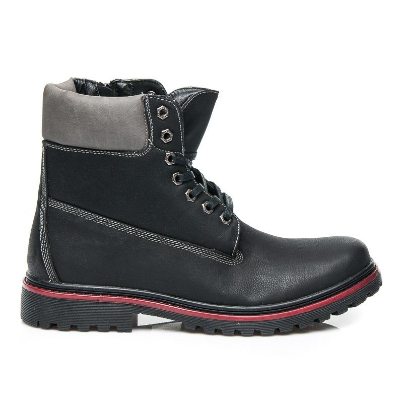 Moderní pánské zimní boty - 9W-JS84839B | 43