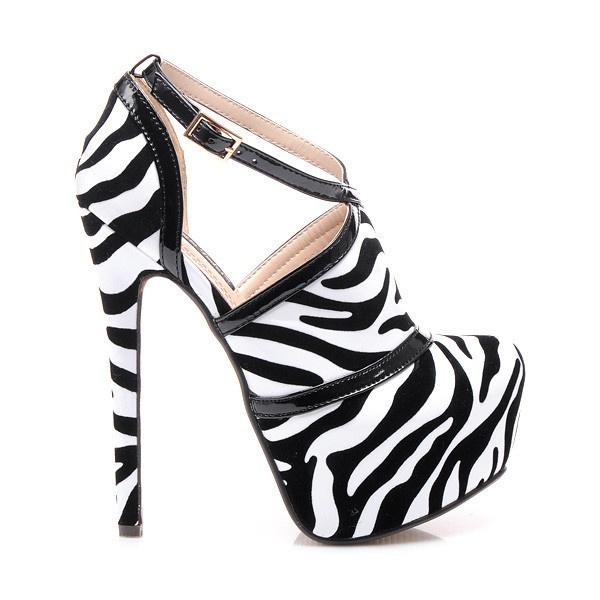 Ohromující kotníkové boty zebra RMD1189ZE | 39/6