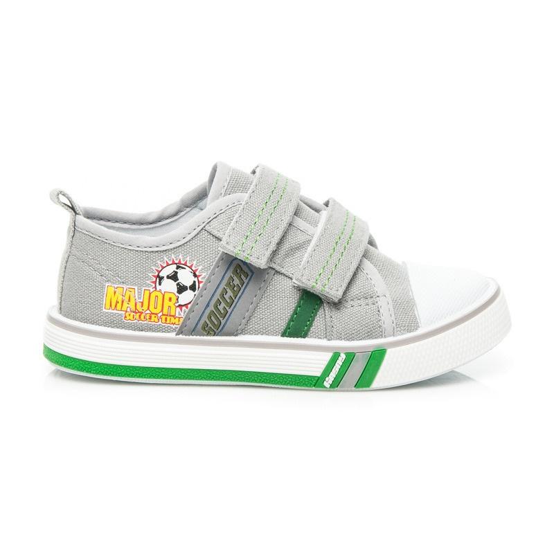 Chlapecké tenisky na suchý zip šedé - T2017G