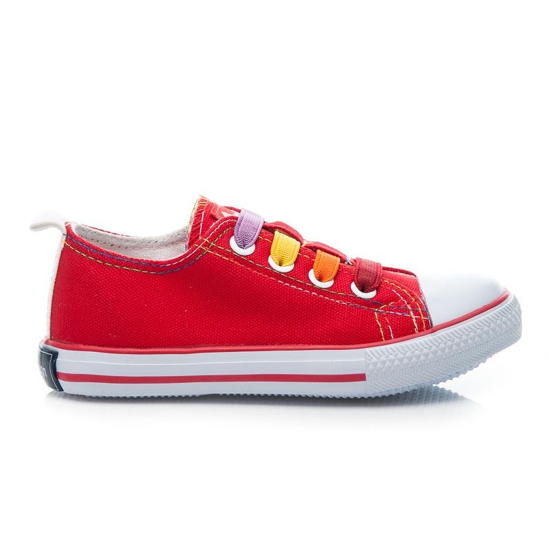 Plátěné dětské boty červené - LH-15-DSLN05-3R