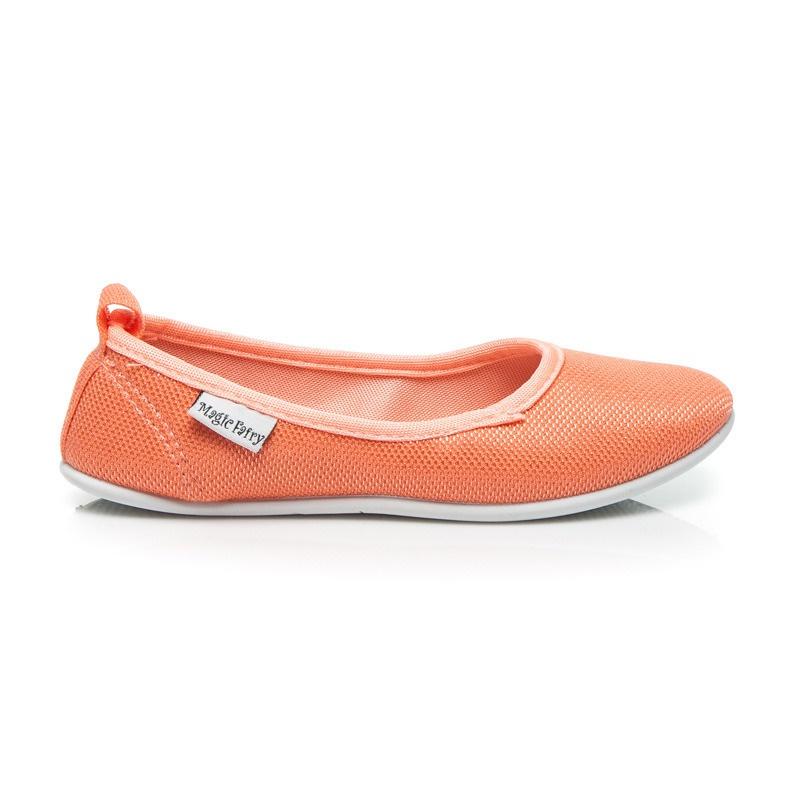 Klasické dívčí baleríny oranžové - AD03T-OR