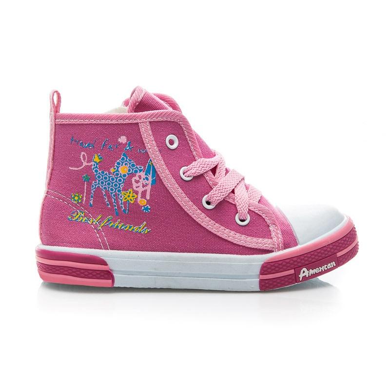 Dětské plátěné boty růžové - TEN13.2015F