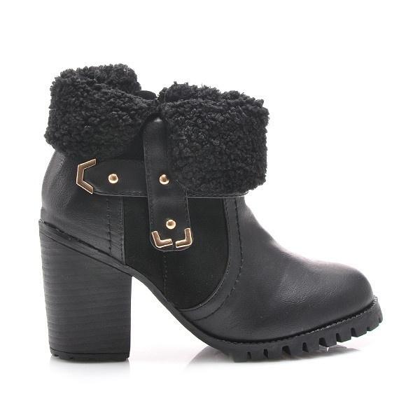 Kotníčkové boty černé MY111B