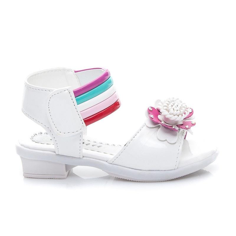 Stylové dětské sandálky bílé HY801W