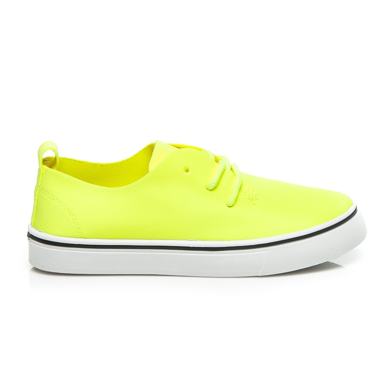 Neonové žluté tenisky dětské - CT01GR | 33