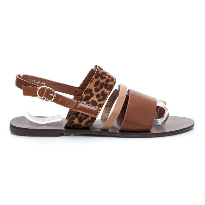 Sandálky se zvířecím motivem gepard SA93-076C.LE | 37/4