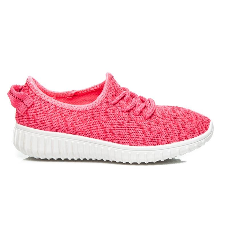 Dokonalé růžové tenisky dětské - B16-20RO | 33