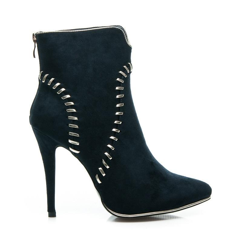Elegantní kotníčkové boty - DH311BL