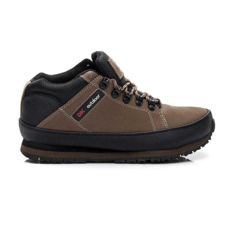 Pohodlné dámské trekové boty hnědé - W03M0488BR