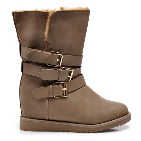 Zateplené boty na klínku Y441-18KH