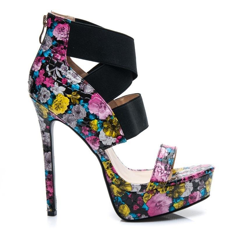 Vysoké květinové sandálky JU739FL