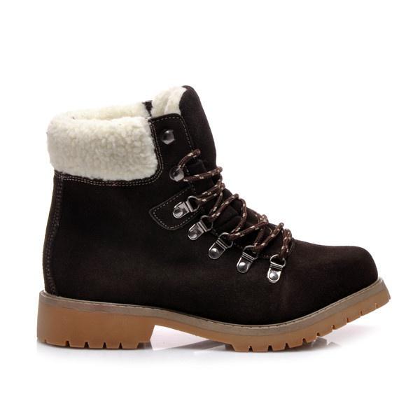 Zimní boty s kožíškem hnědé - 7W-WB82672COF