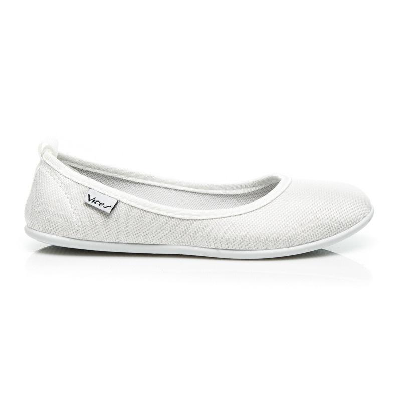 Stylové bílé baleríny - AD03-41W