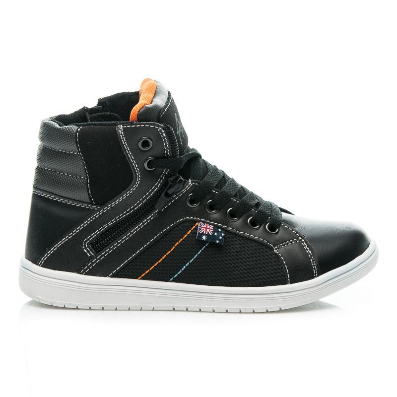 Vysoké dětské boty černé- 86457B