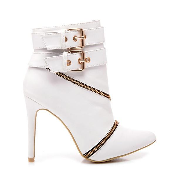 Perfektní kotníčkové boty bílé MY115W