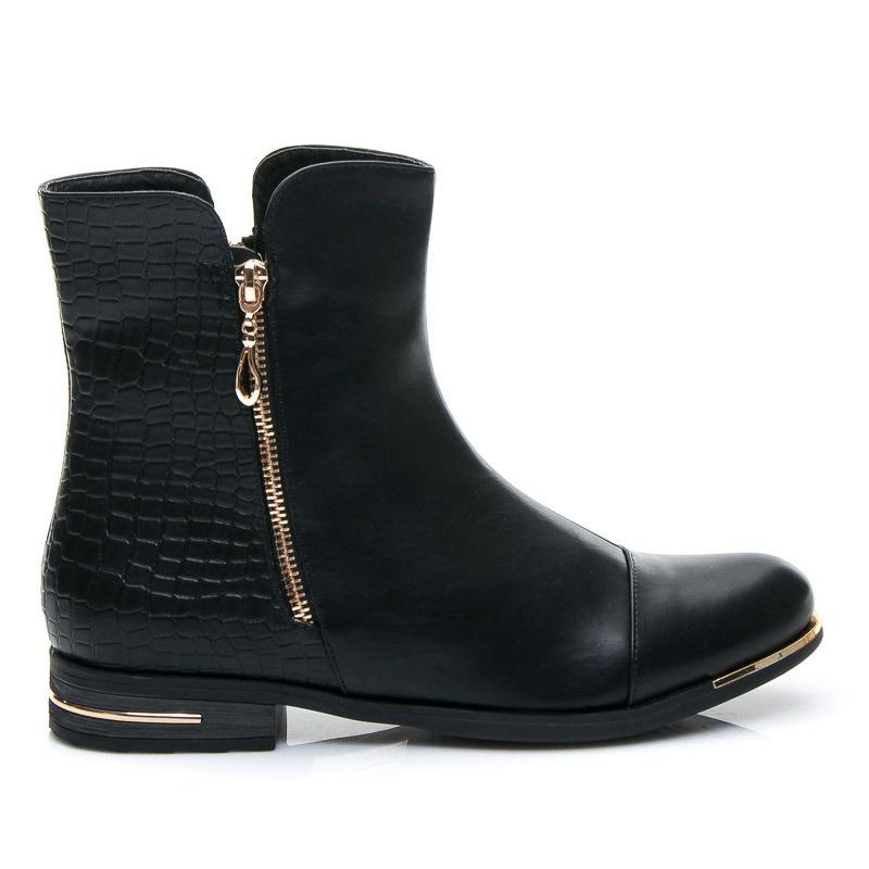 Dámské boty s krokodýlím motivem - 6699A-5B