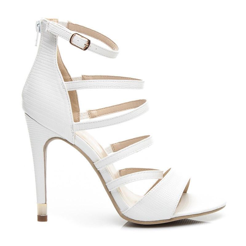 Fenomenální dámské sandálky bílé EDA2WLI