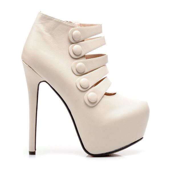 Přepychové kotníkové boty bílé RMD1191BE