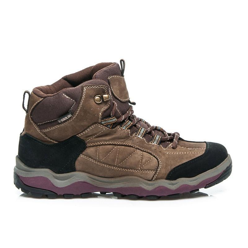 Dámské trekové sportovní boty hnědé - SB4644-6BR