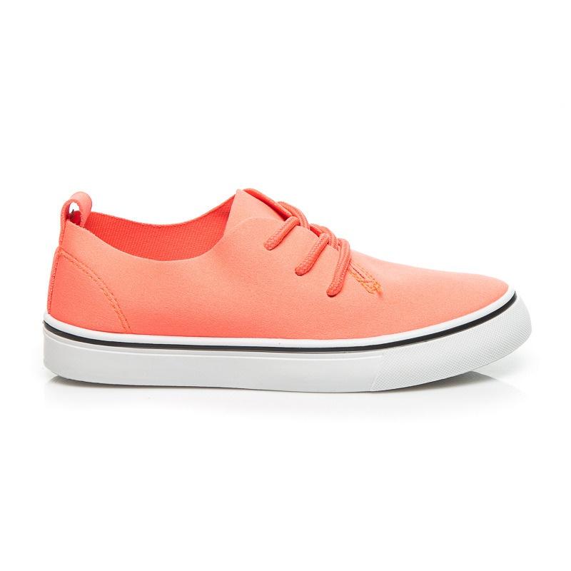 Stylové oranžové tenisky dětské - CT01OR | 33
