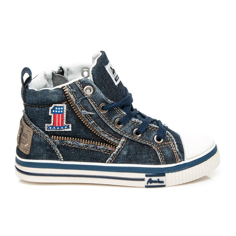 Kotníčkové chlapecké tenisky modré - CA336-A15105N
