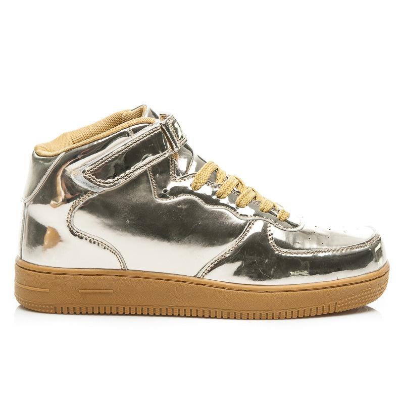 Dámské sportovní boty zlaté - BK15642GO