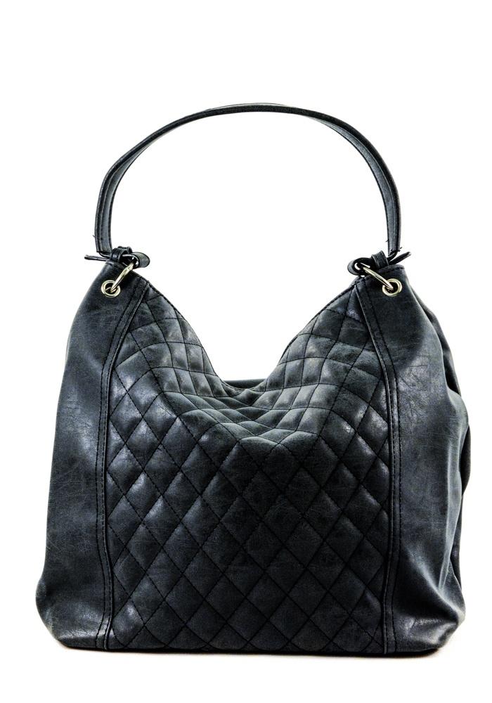 Elegantní prošívaná kabelka černá 65129